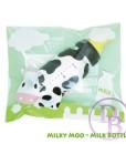 Milky Moo Matte Black Milk Bottle