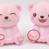 Puni Mini Pink Polar Bears Defect